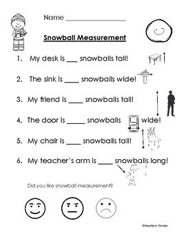 Winter Snowball Measurement (non-standard measurement with snowballs)
