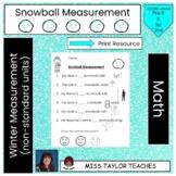 Winter Snowball Measurement (non-standard measurement with