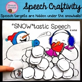 Winter Snowman Speech Therapy Articulation Language Craft Snowball