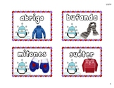 Winter Snowball Writing Dual Language, Spanish