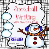 Winter Snowball Writing Write Around the Room