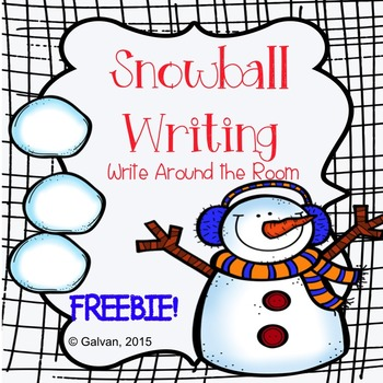 Winter Snowball Writing Write Around the Room