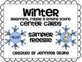 Winter Snowflake Beginning, Middle & End Sound Center Cards ~SAMPLER FREEBIE~