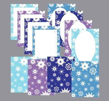 Winter Snowflake Boarders and Backgrounds