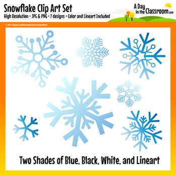 Winter Snowflake Clip Art Graphics