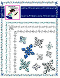 Let it Snow!  Winter Snowflake Clip Art Pack - Borders and