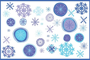 Winter Snowflake Clip Art | Winter | Snow | Winter Wonderland | Christmas