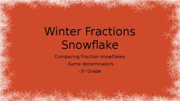 Winter Snowflake Comparing Fractions