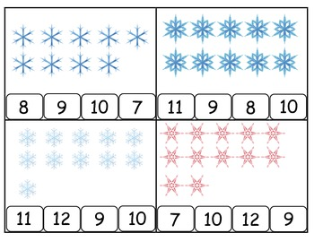 Winter Snowflake Count and Clip