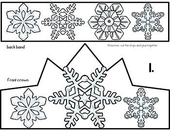 Winter Snowflake Crown Craft