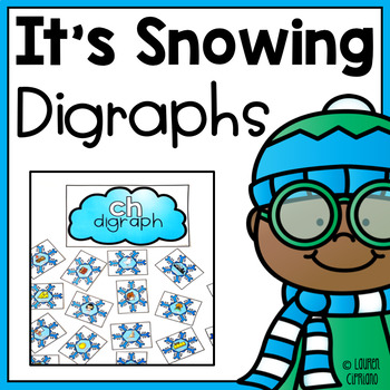 Winter Snowflake Digraph Sort Activity ch sh th wh