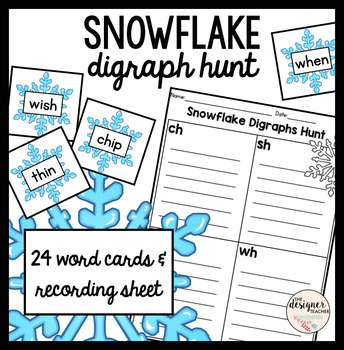 Winter Snowflake Digraph Sort {CH, SH, TH, & WH}