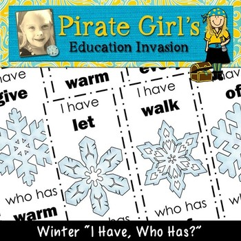 Winter Snowflake Dolch Sight Word Game (2nd grade)