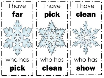 Winter Snowflake Dolch Sight Word Game (3rd grade)
