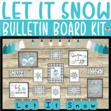 Winter Snowflake Farmhouse Classroom Rustic Chic Bulletin Board