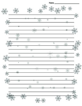 Winter Snowflake Lined Paper