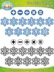 Winter Snowflake Math Numbers Clipart {Zip-A-Dee-Doo-Dah Designs}