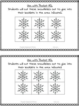 Winter Snowflake Positional Words booklet