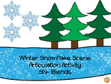 Winter Snowflake Scene Articulation Activity for SN-blends