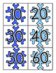 Winter Snowflake: Skip Counting by 10's - Card Sort Center