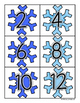 Winter Snowflake: Skip Counting by 2's - Card Sort Center and Worksheet