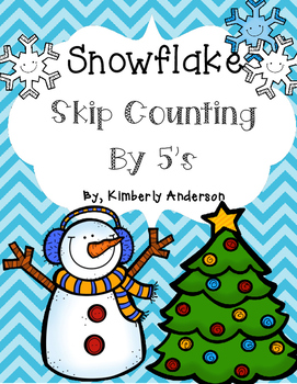 Winter Snowflake: Skip Counting by 5's - Card Sort Center