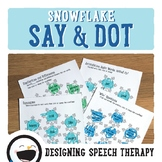 Winter Snowflake Speech & Language Activities
