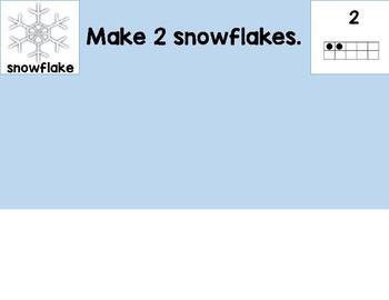 Winter Snowflake and Snowmen Playdough or Loose Part Mats