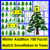 Winter Math:  Addition Snowflakes!  100 Facts!  Differentiate...
