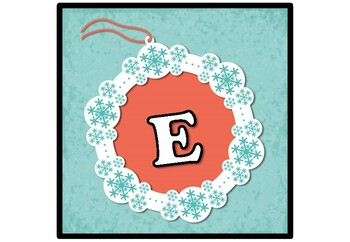 Winter, Snowflakes, Banner, Bulletin Board Letters, Alphabet Posters, New Year