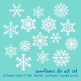 Winter Snowflakes Clip Art, Christmas Holiday Clip Art, Winter Weather