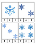 Winter - Snowflakes - Math - Count and Clip Cards #1-24