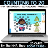 Winter Snowflakes Counting to 20 Boom Cards Distance Learning