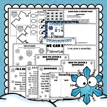 Winter Snowflakes Craft & Writing Activities: Winter Craft: January