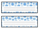 Winter Snowflakes Desk Name Plates, Name Tags, Labels, Classroom Décor