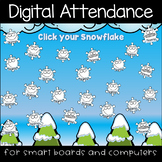Winter Snowflakes Digital Attendance (Smart Boards and Computers)