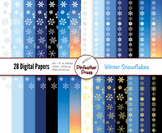 Winter Snowflakes Digital Papers - 8.5x11