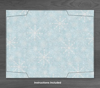 Winter Snowflakes Envelope - Printable Blue A7 Envelope - Includes Liners
