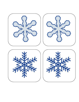 Winter - Snowflakes - Matching and Memory Game - 11 pairs!