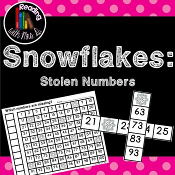 Winter Snowflakes Missing stolen Numbers