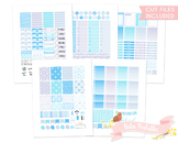Winter Snowflakes Printable Weekly Planner kit Stickers fits Erin Condren