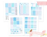 Winter Snowflakes Printable Weekly Planner kit Stickers fi