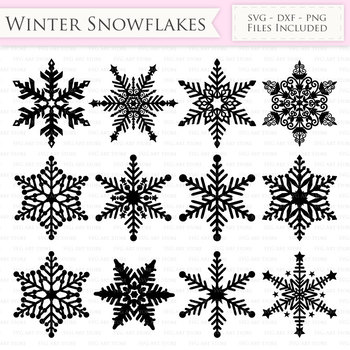 winter snowflakes svg snow svg cutting files cricut and silhouette svg