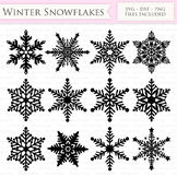 Winter Snowflakes SVG Snow svg cutting files Cricut and Si