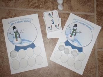 Winter Snowglobe Counting Game Game