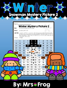 Winter Snowman 120 Chart Mystery Picture 2