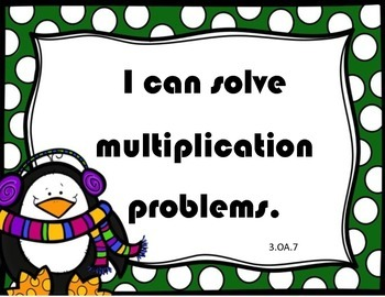 Winter Snowman Multiplication Facts: I Have, Who Has? and Scoot