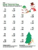Winter Snowman 2 Digit Subtraction & Addition Regrouping Common Core (color)