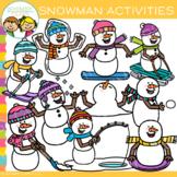 Winter Snowman Activities Clip Art