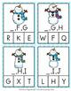 Winter Snowman Alphabet Letter Sequencing Clip Cards